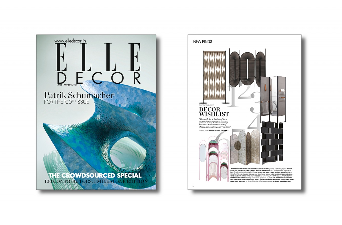 Makro . Shade . Elle Decor India . June-July 2018