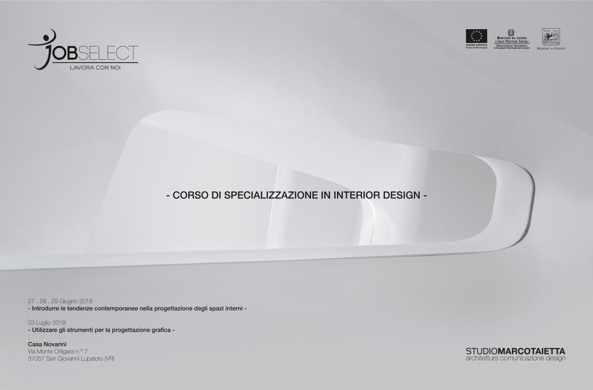 Corso di Interior Design . Giugno-Luglio 2018